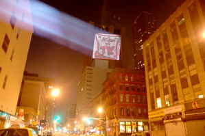 guerrilla projection gbc large format projector culturejam gbc glass bead collective resistance